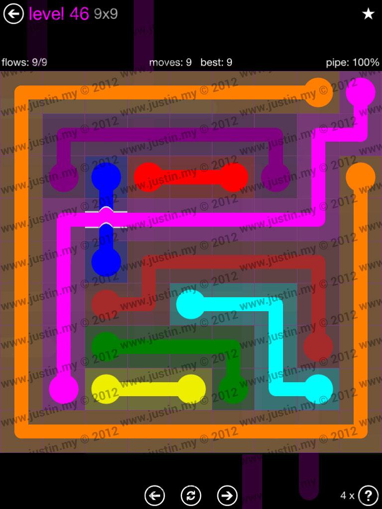 Flow Bridges 9x9 Mania Level 46