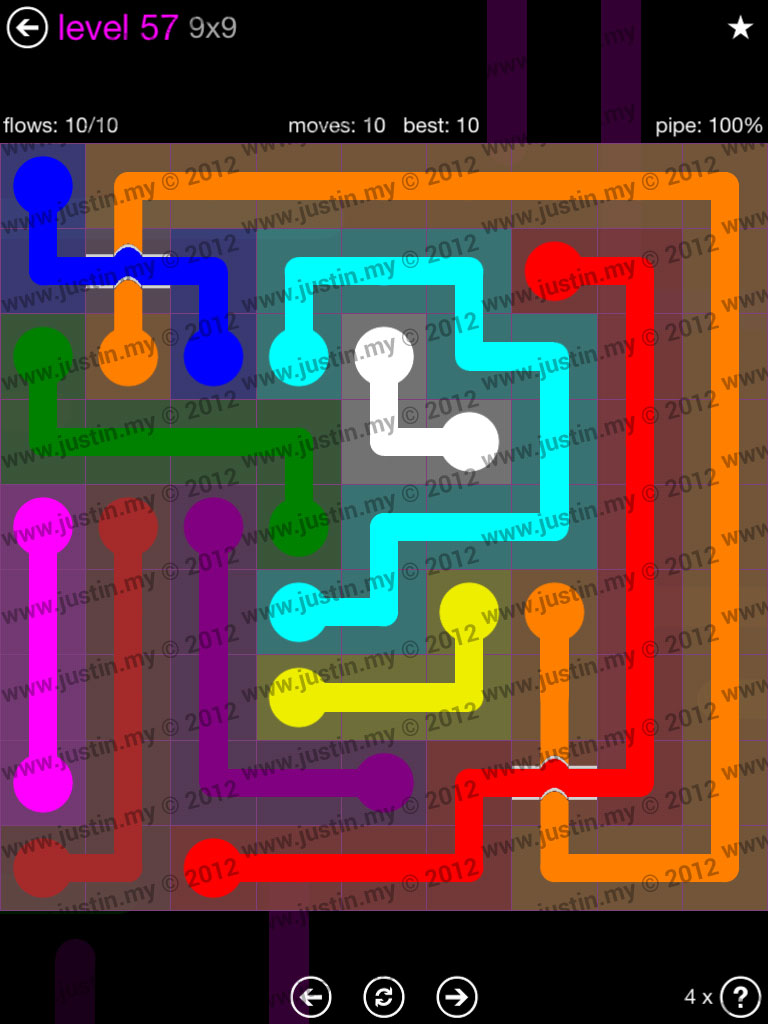 Flow Bridges 9x9 Mania Level 57