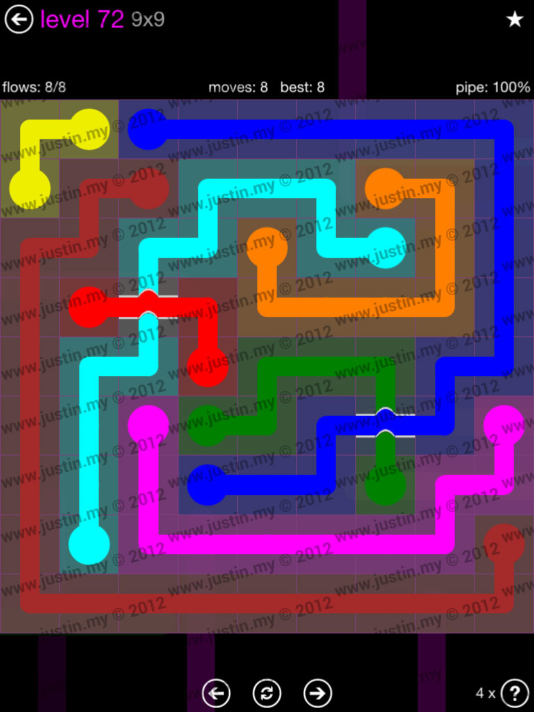 Flow Bridges 9x9 Mania Level 72