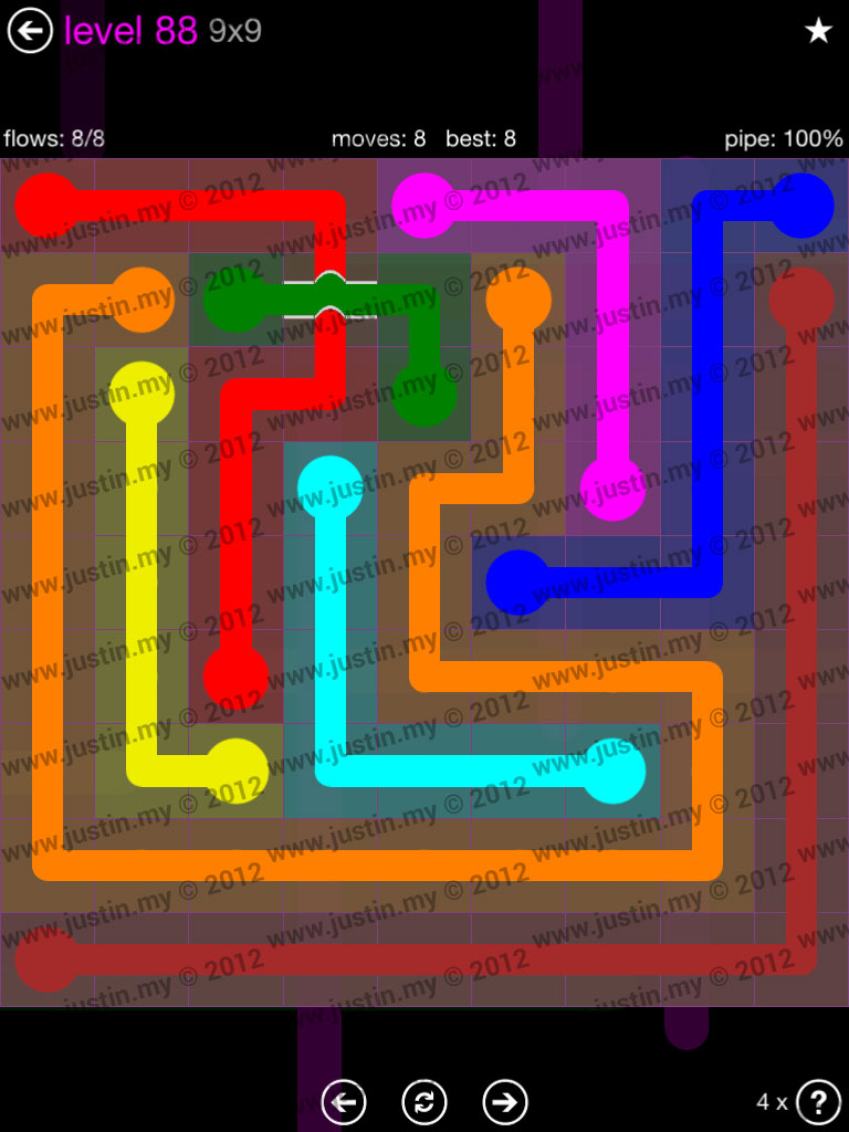 Flow Bridges 9x9 Mania Level 88