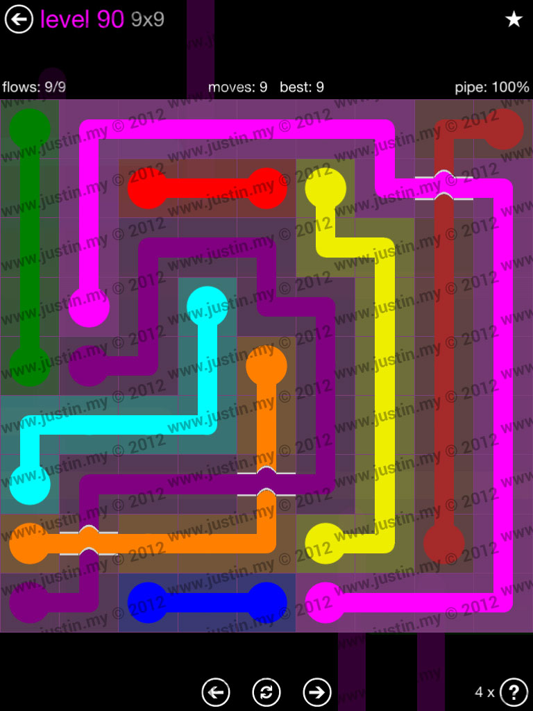 Flow Bridges 9x9 Mania Level 90