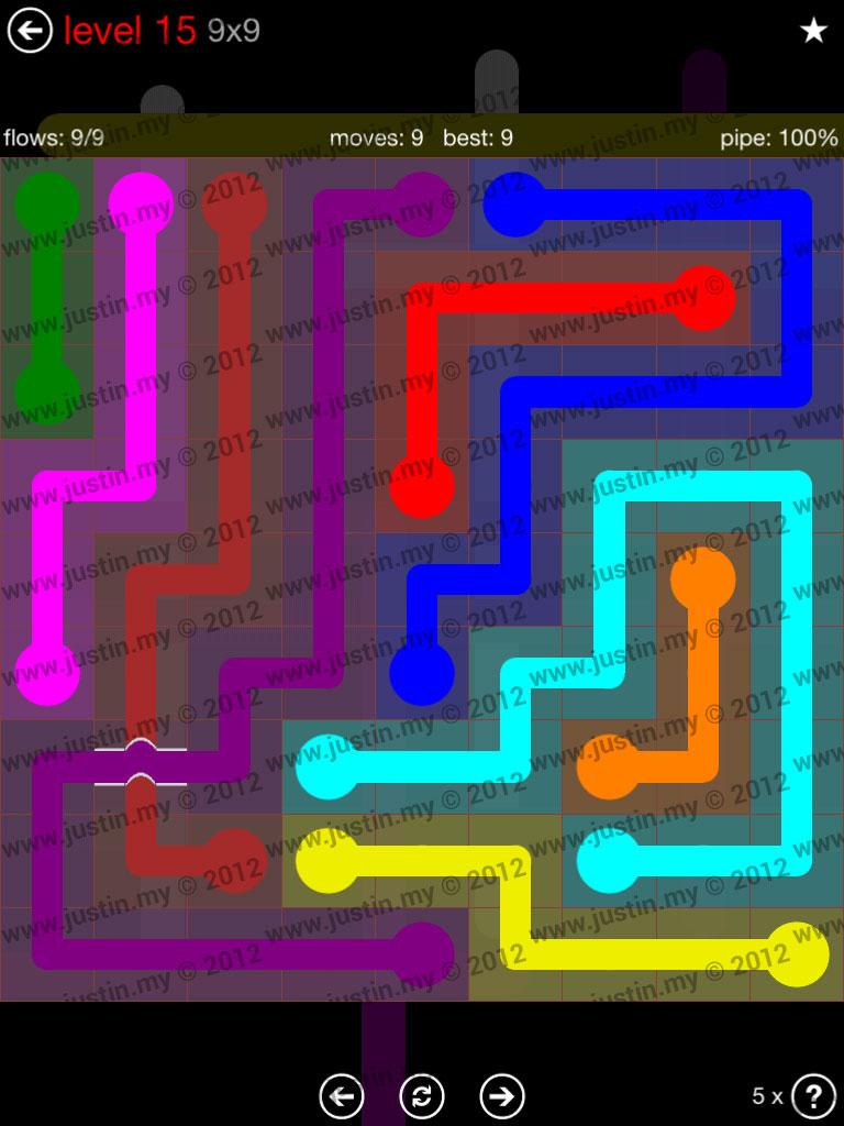 Flow Bridges 9x9 Level 15