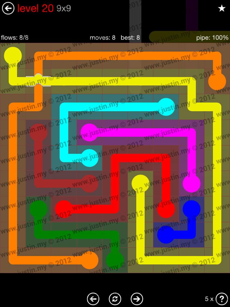 Flow Bridges 9x9 Level 20