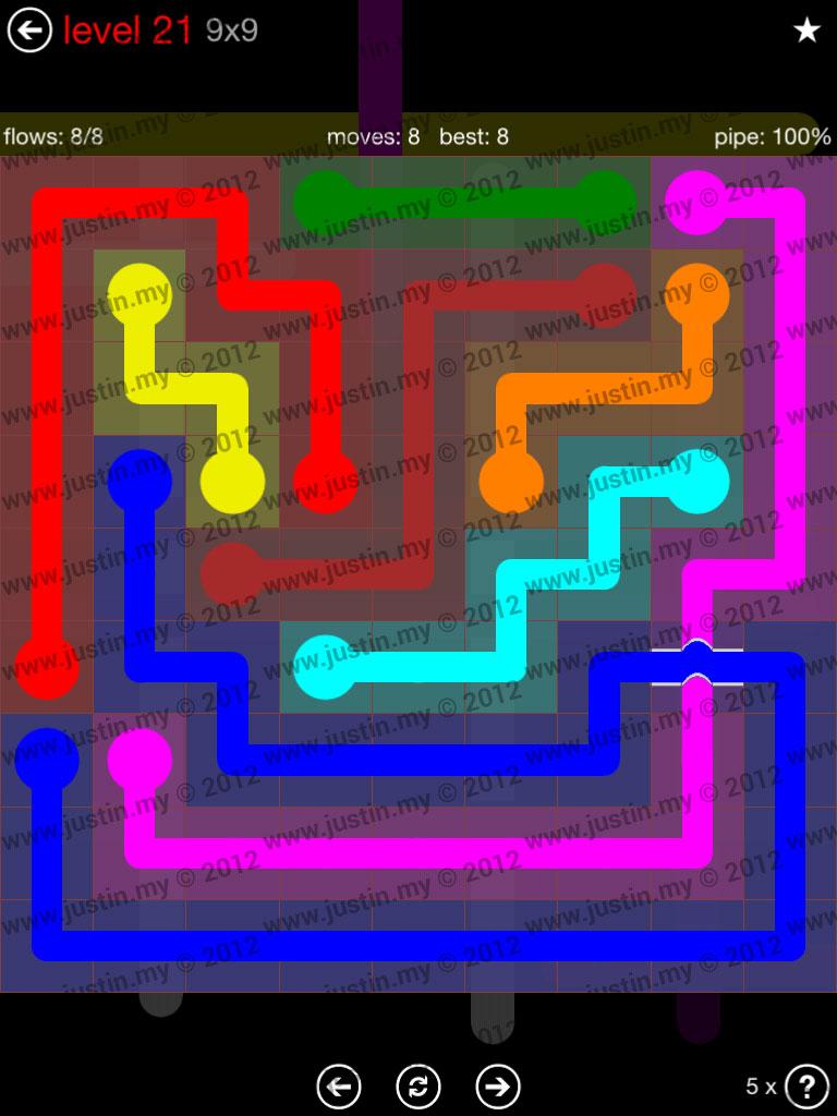Flow Bridges 9x9 Level 21