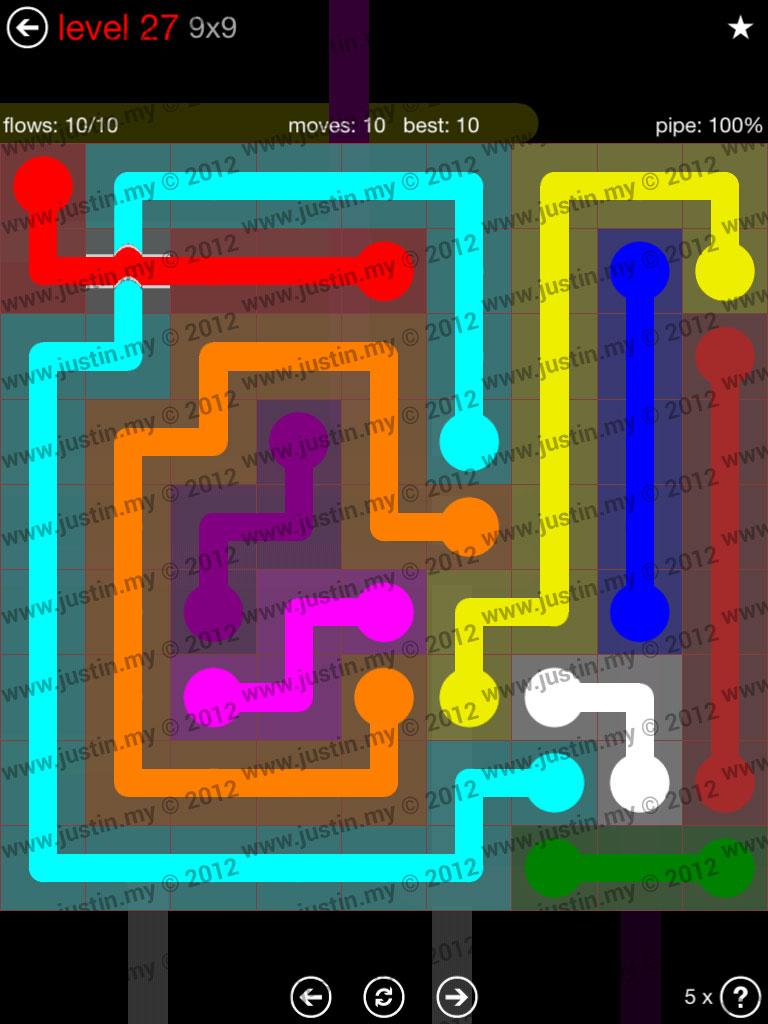 Flow Bridges 9x9 Level 27