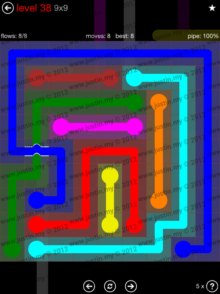 Flow Bridges 9x9 Level 38