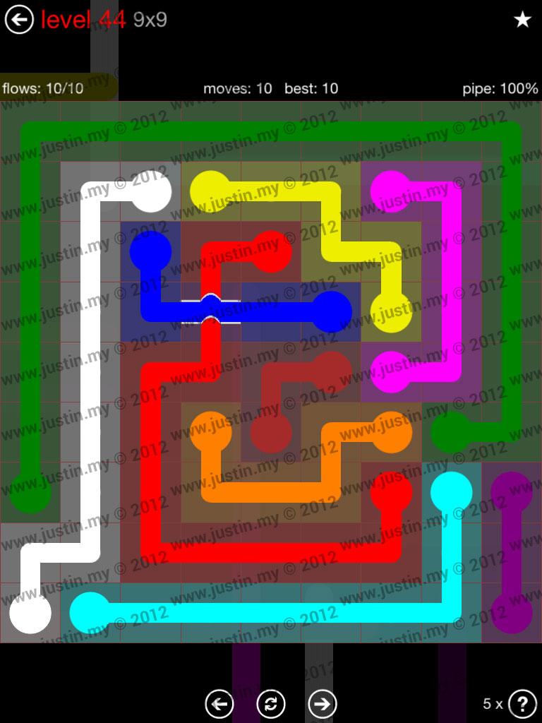 Flow Bridges 9x9 Level 44