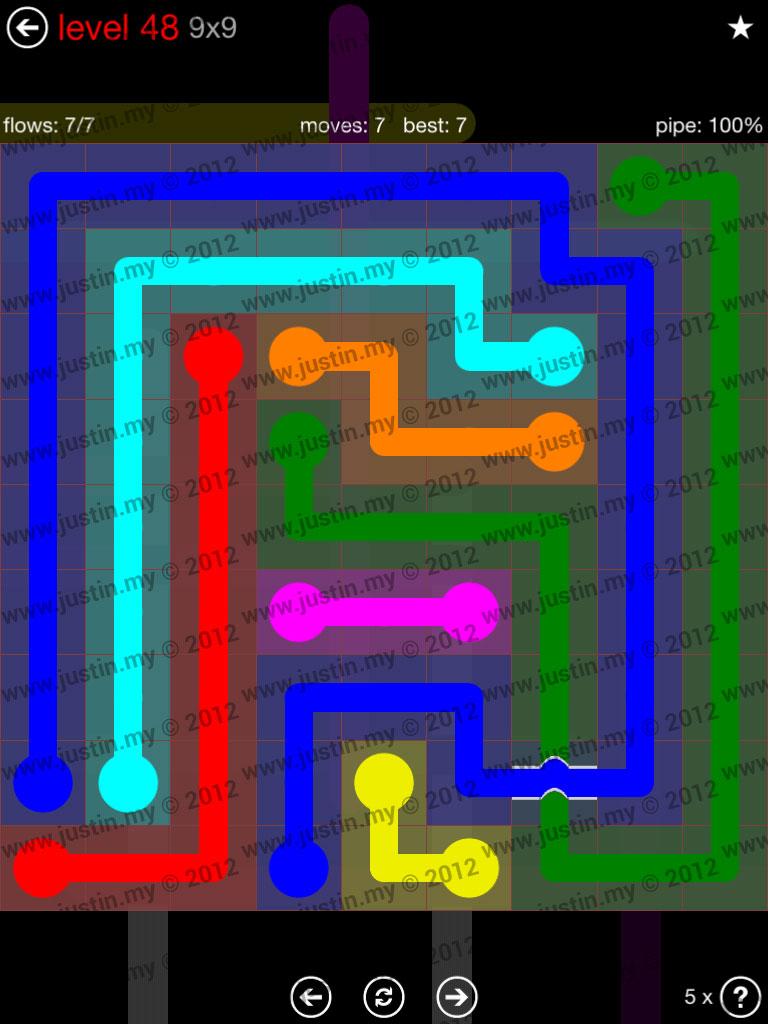 Flow Bridges 9x9 Level 48