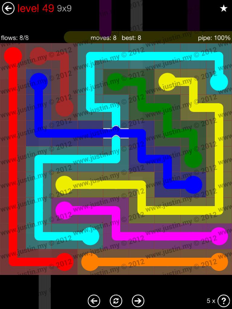 Flow Bridges 9x9 Level 49