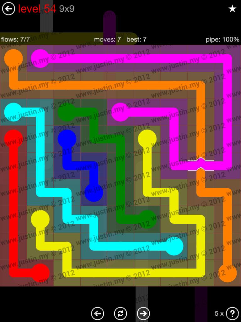 Flow Bridges 9x9 Level 54