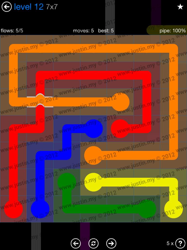 Flow Bridges 7x7 Level 12
