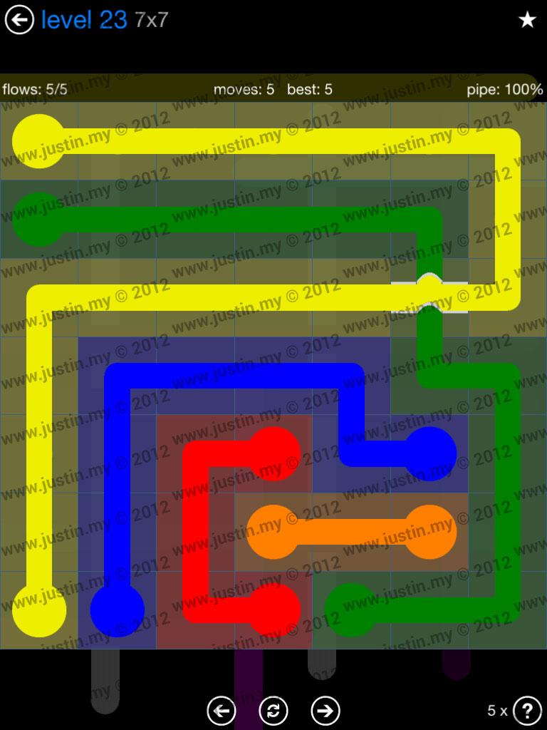 Flow Bridges 7x7 Level 23
