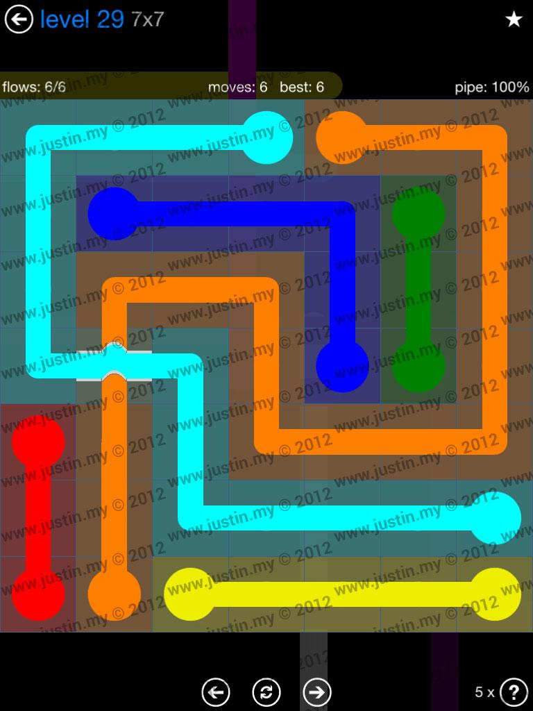 Flow Bridges 7x7 Level 29