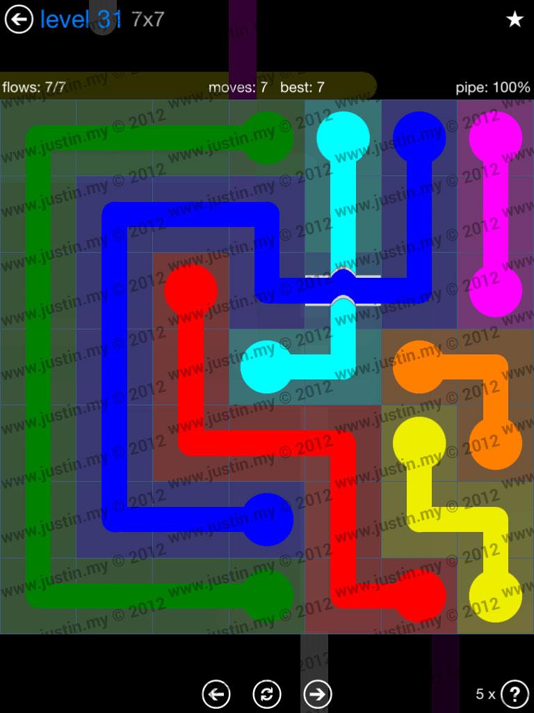 Flow Bridges 7x7 Level 31
