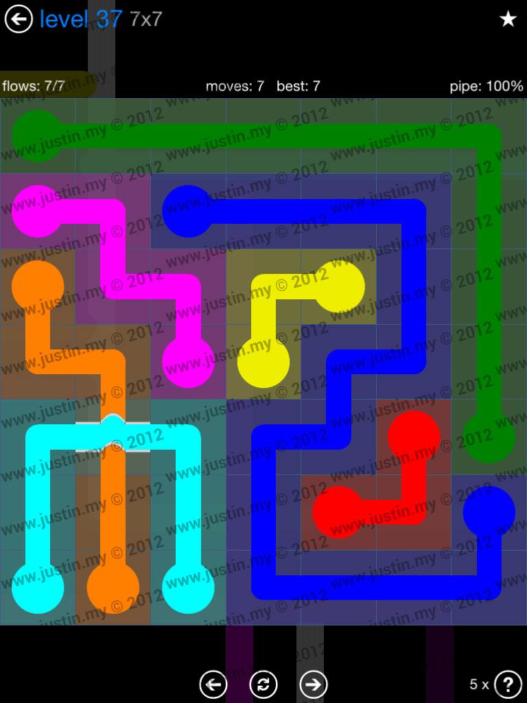 Flow Bridges 7x7 Level 37