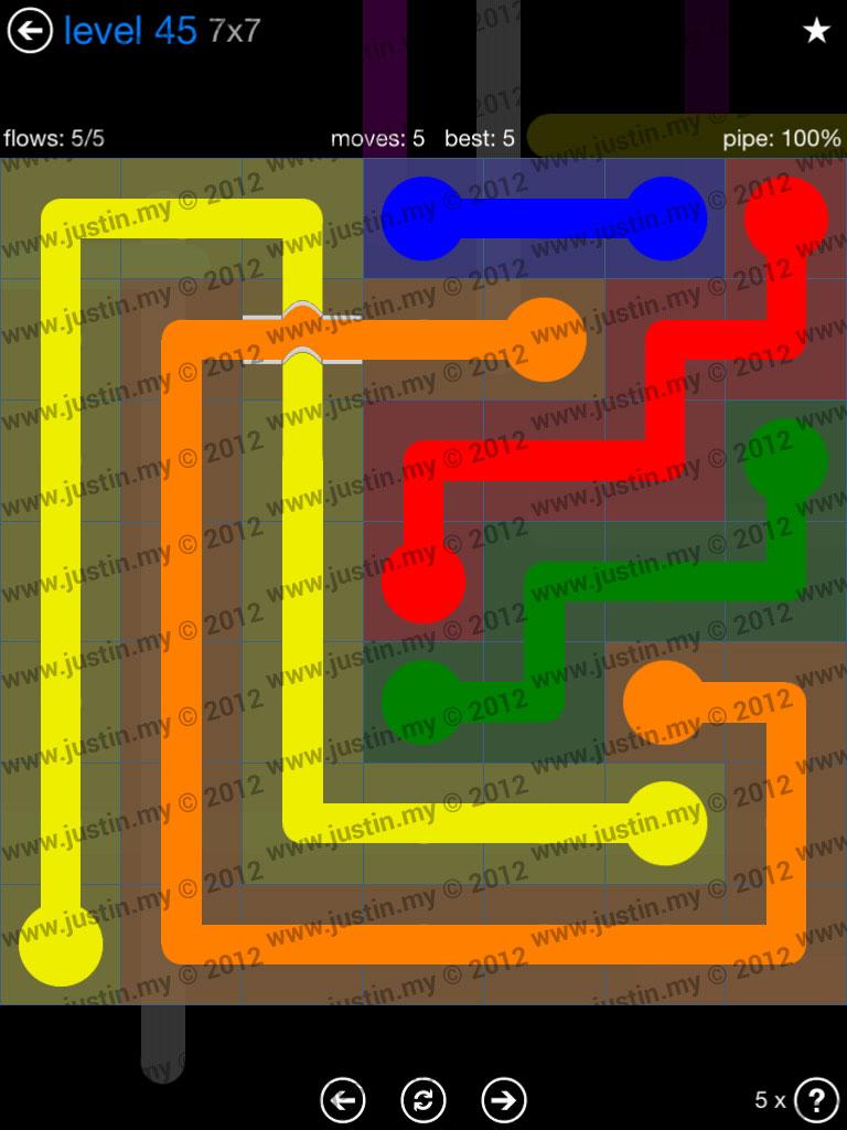 Flow Bridges 7x7 Level 45