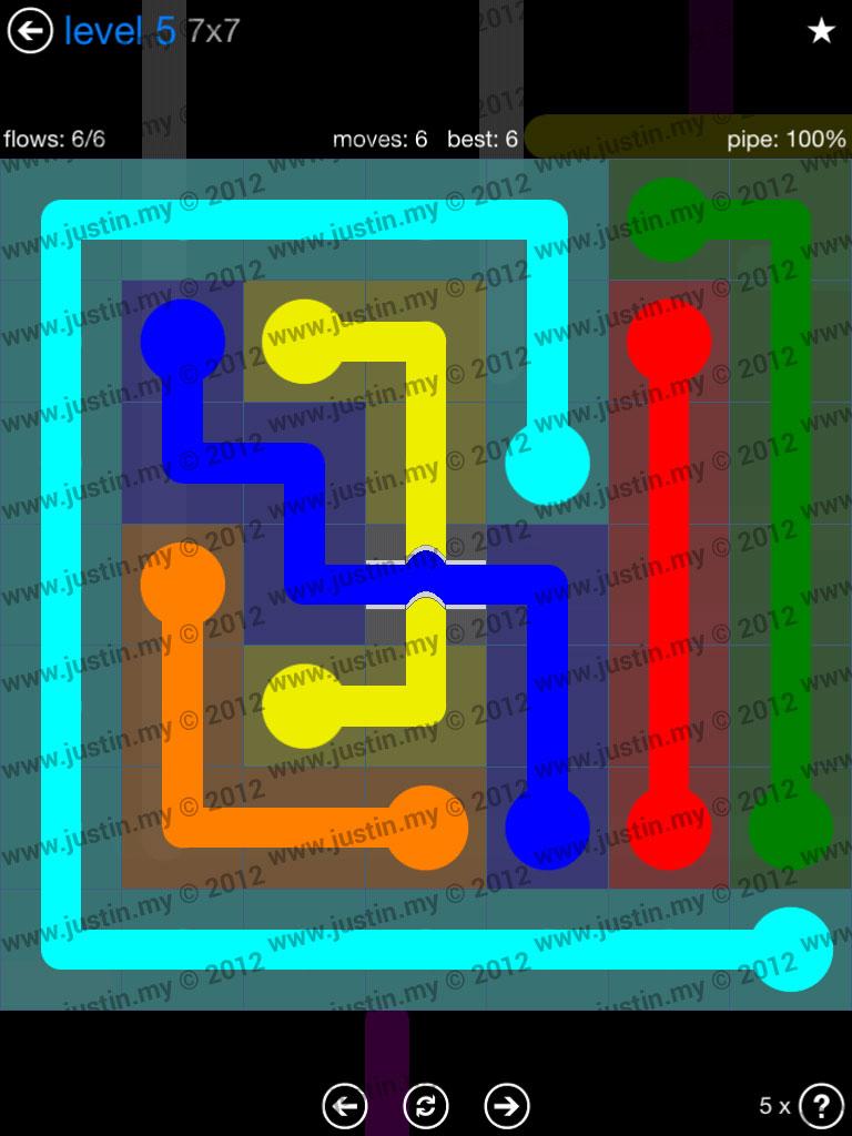 Flow Bridges 7x7 Level 5