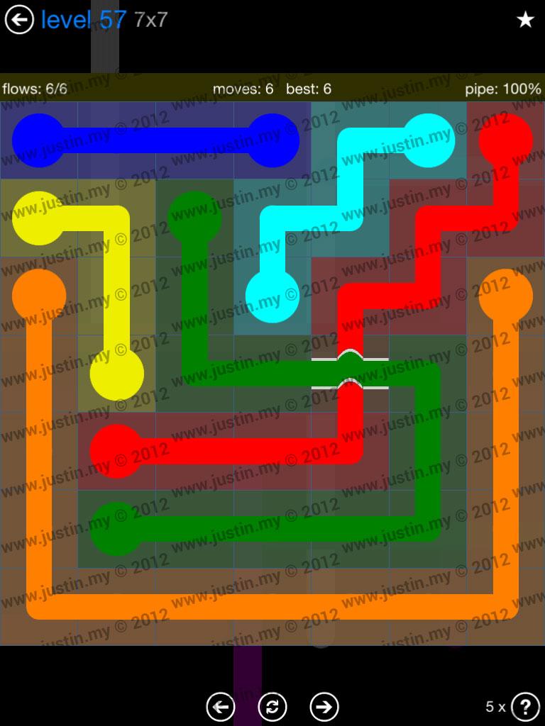 Flow Bridges 7x7 Level 57