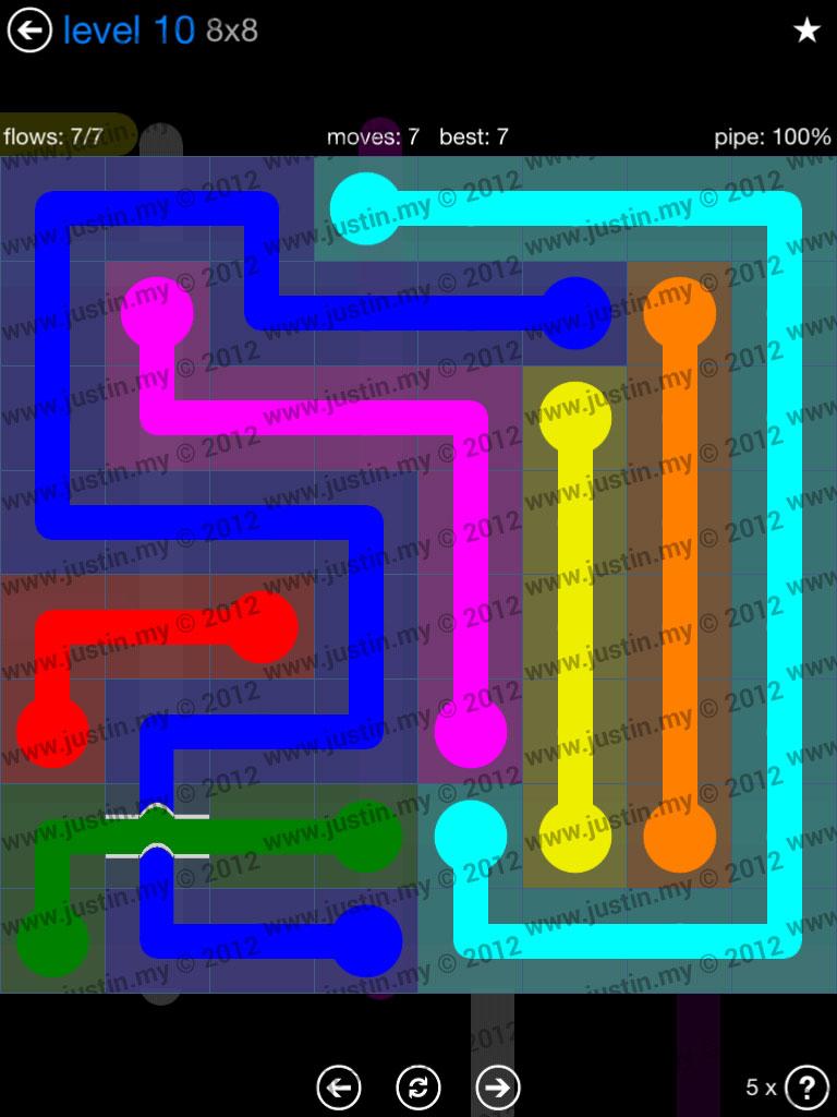 Flow Bridges 8x8 Level 10