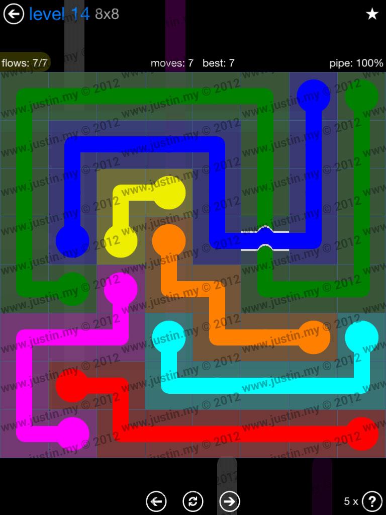 Flow Bridges 8x8 Level 14