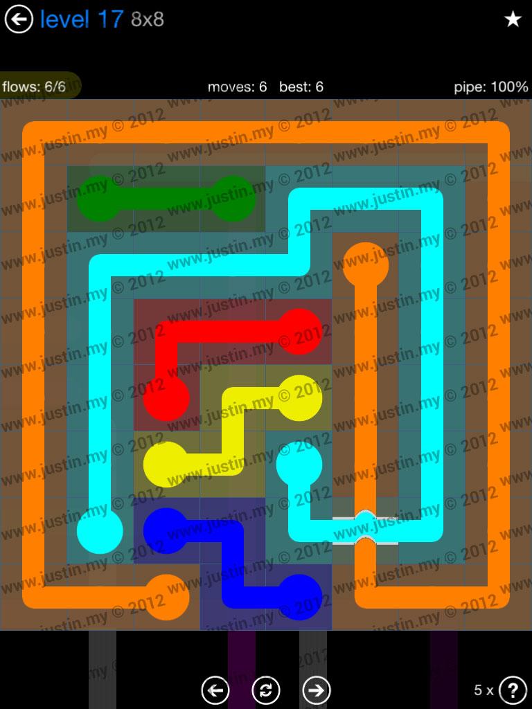 Flow Bridges 8x8 Level 17