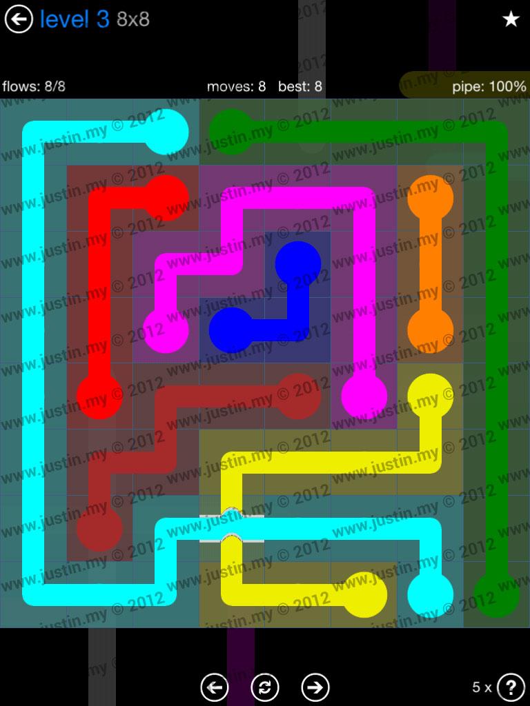 Flow Bridges 8x8 Level 3