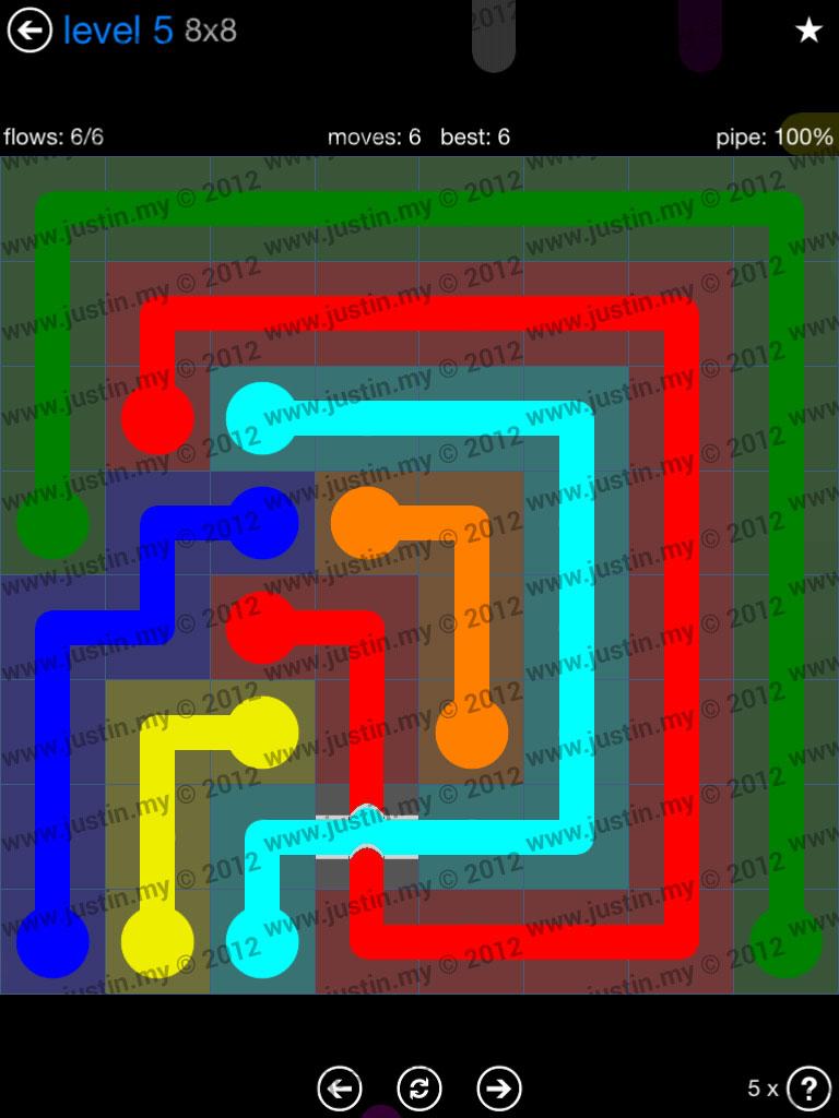 Flow Bridges 8x8 Level 5