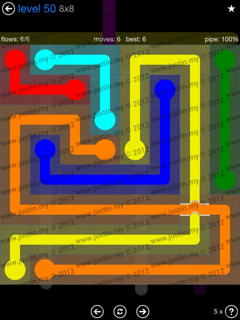 Flow Bridges 8x8 Level 50