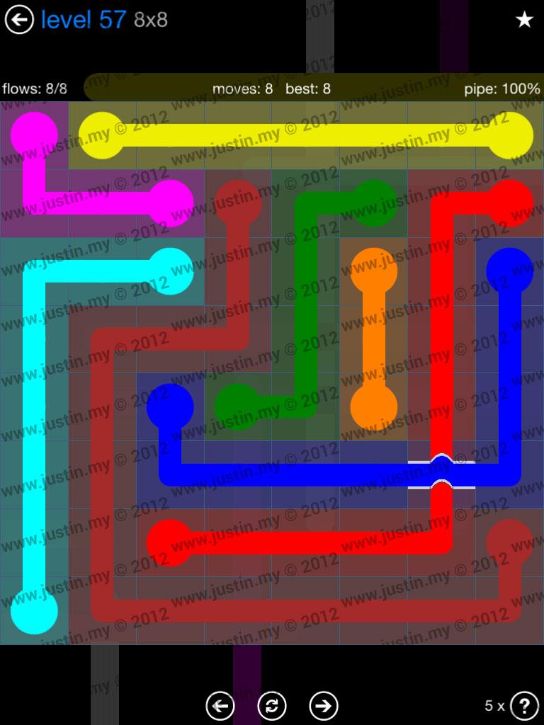 Flow Bridges 8x8 Level 57