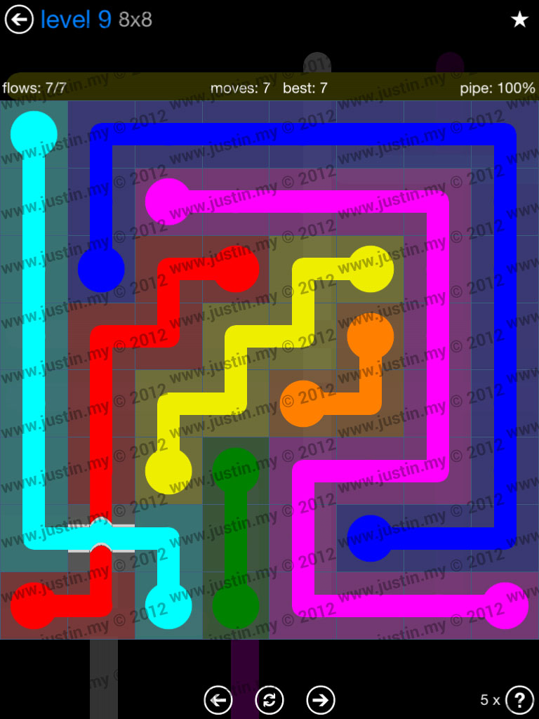 Flow Bridges 8x8 Level 9