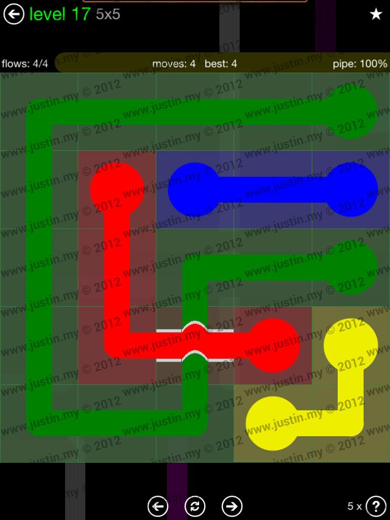 Flow Bridges 5x5 Level 17