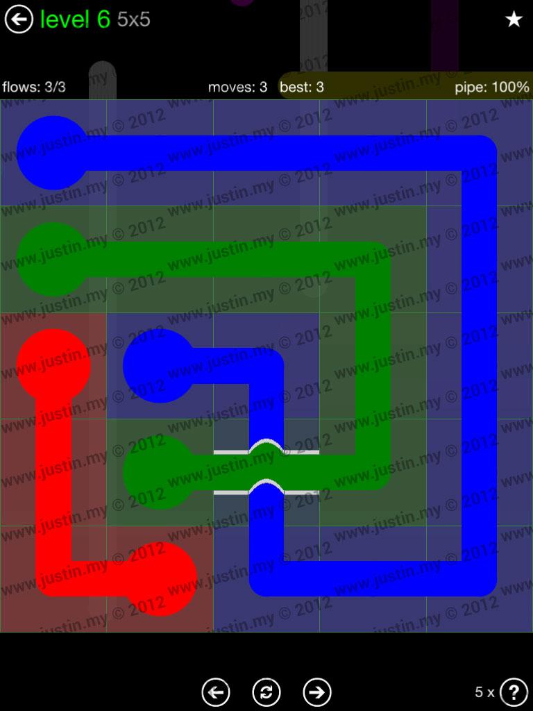 Flow Bridges 5x5 Level 6