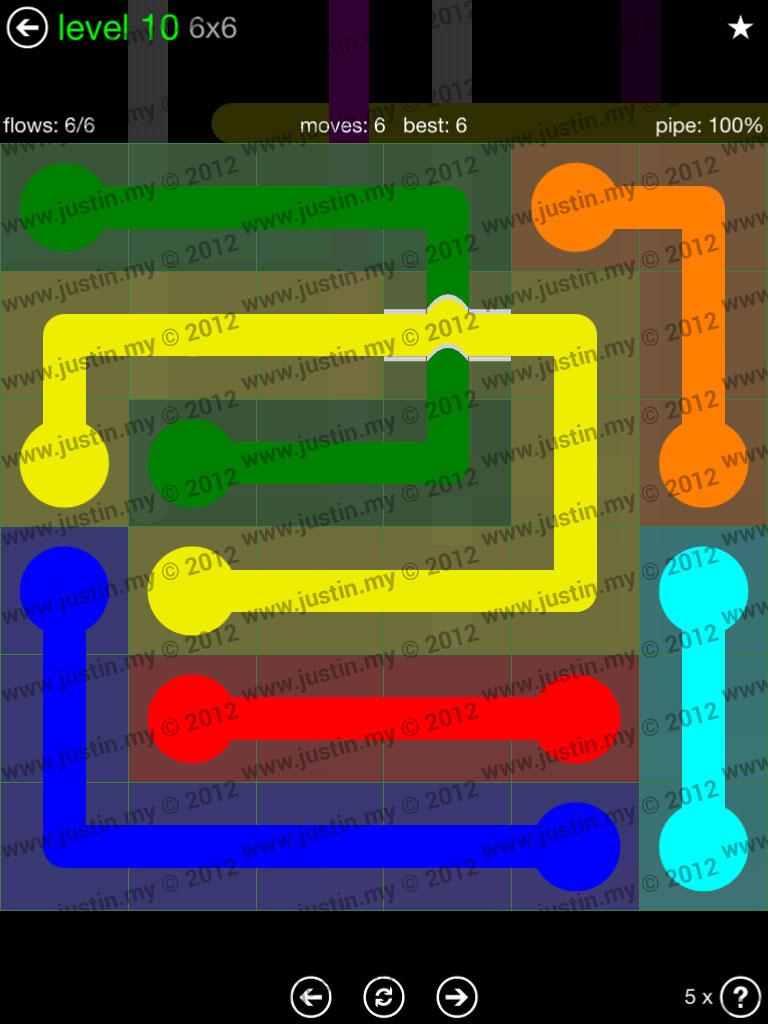 Flow Bridges 6x6 Level 10