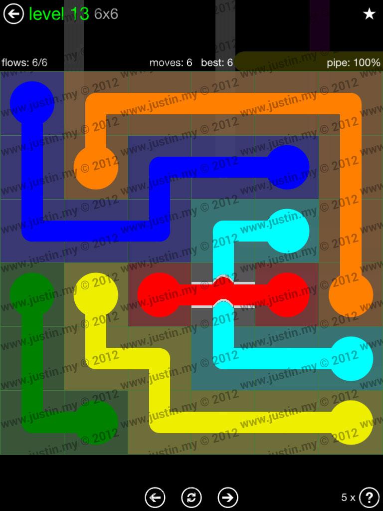 Flow Bridges 6x6 Level 13