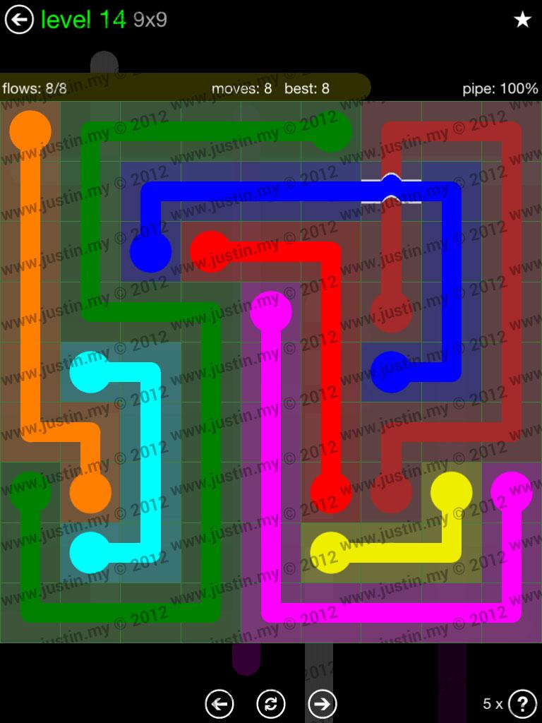 Flow Bridges 9x9 Level 14