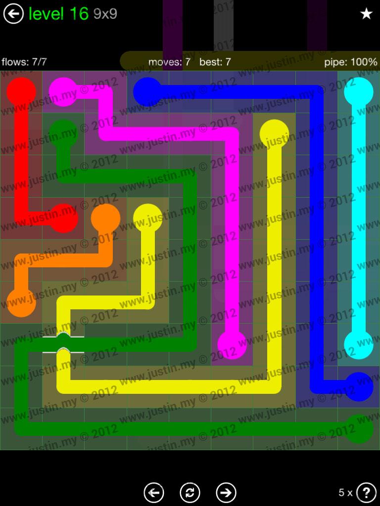 Flow Bridges 9x9 Level 16