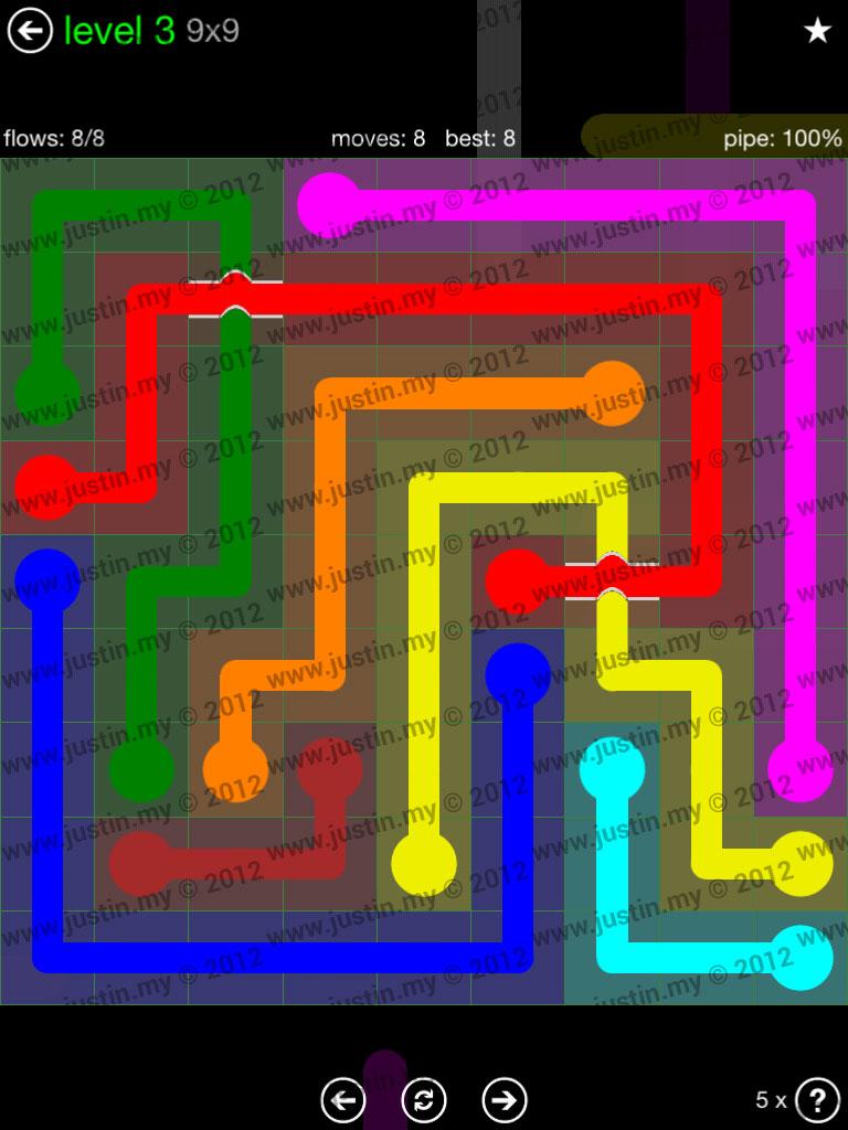 Flow Bridges 9x9 Level 3