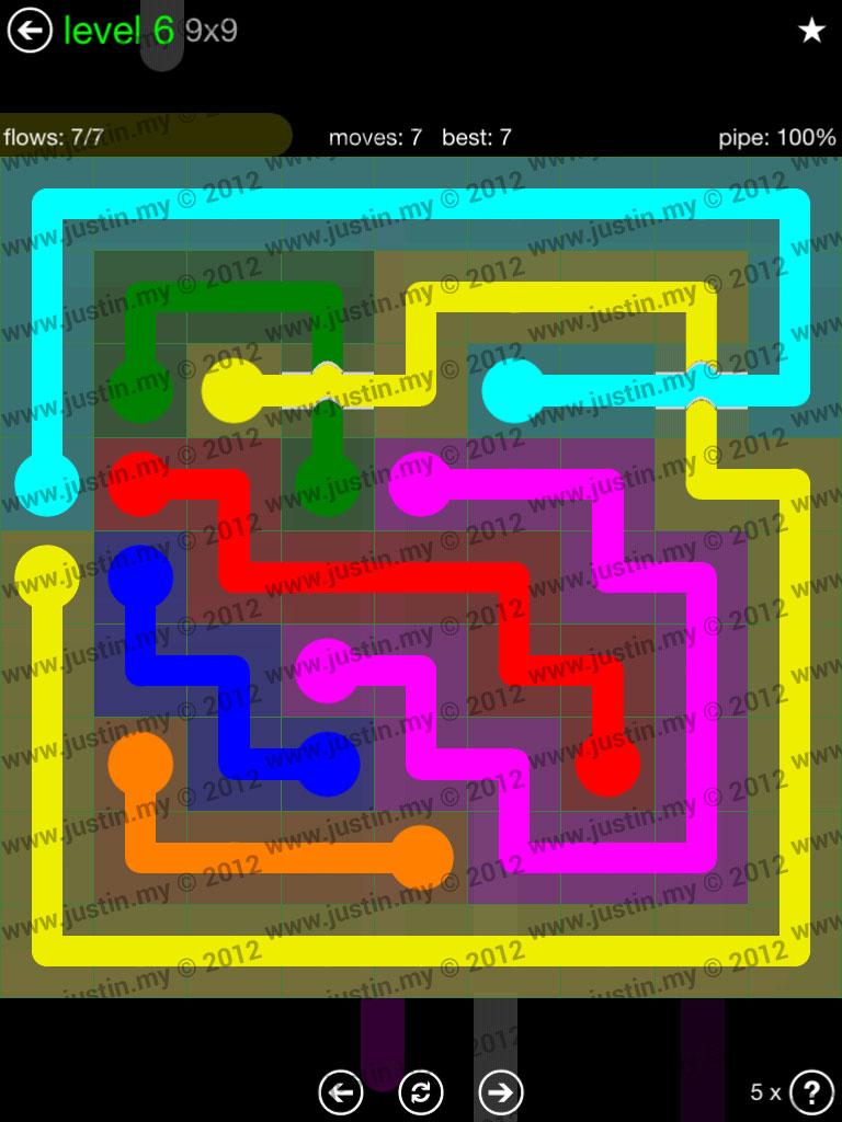 Flow Bridges 9x9 Level 6