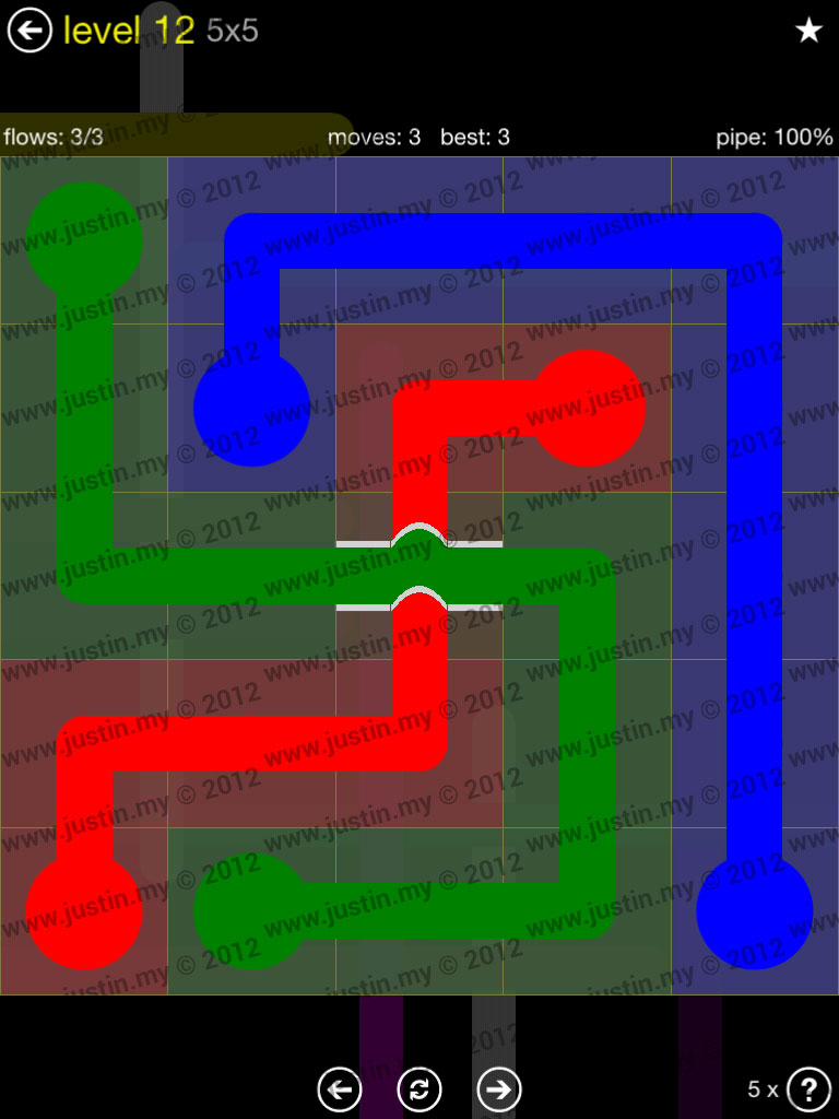 Flow Bridges 5x5 Level 12