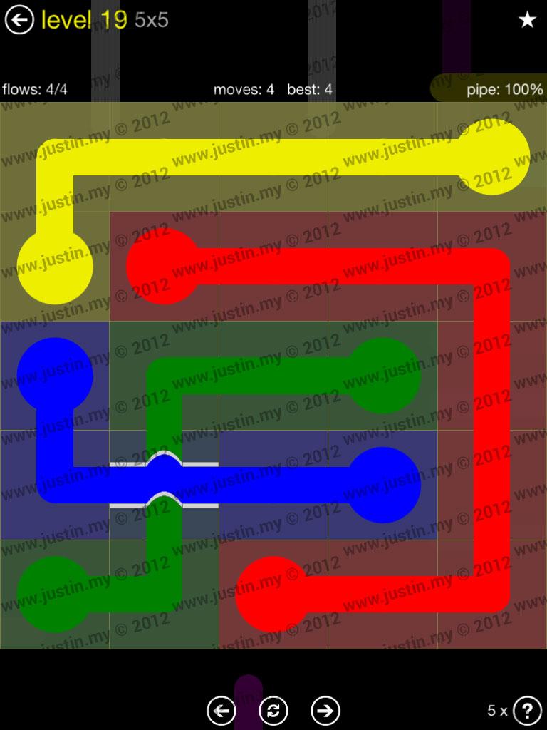 Flow Bridges 5x5 Level 19