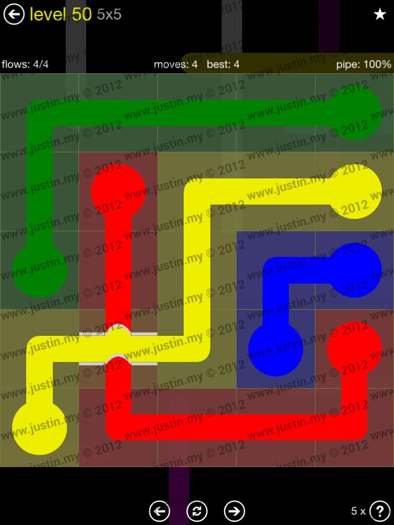 Flow Bridges 5x5 Level 50