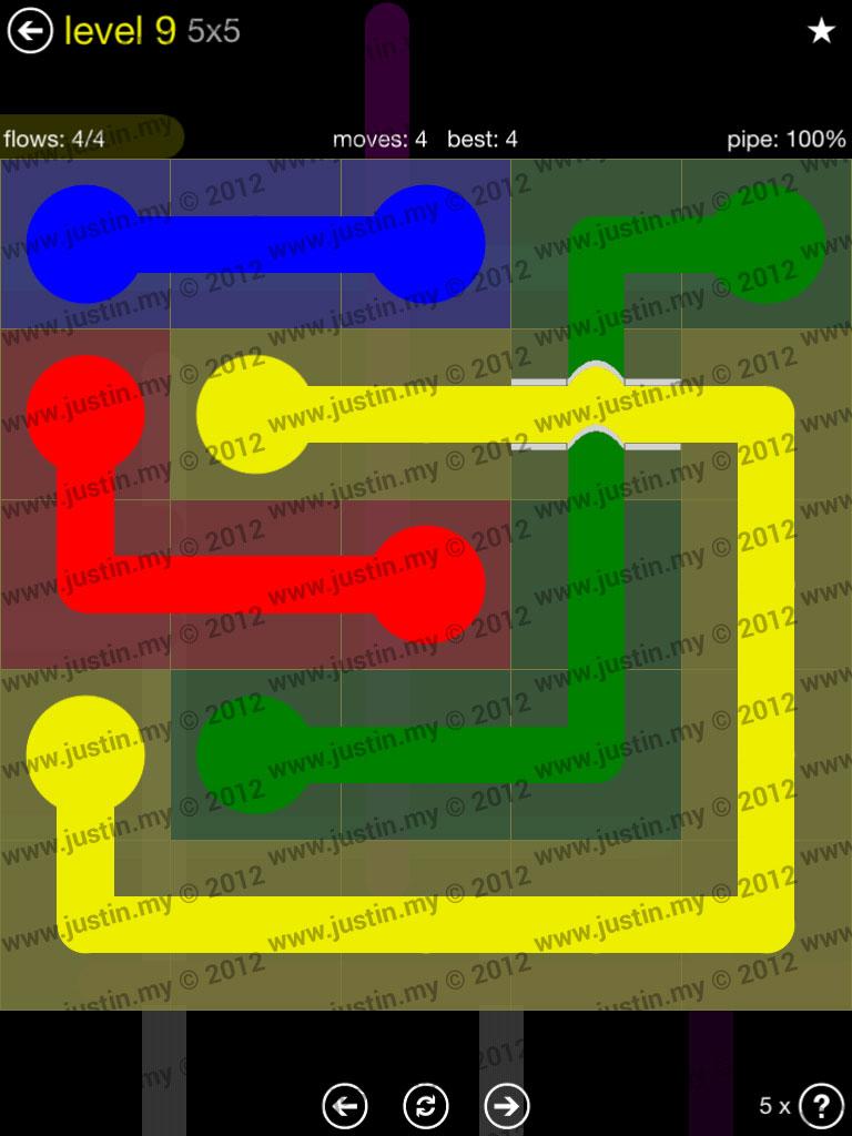 Flow Bridges 5x5 Level 9