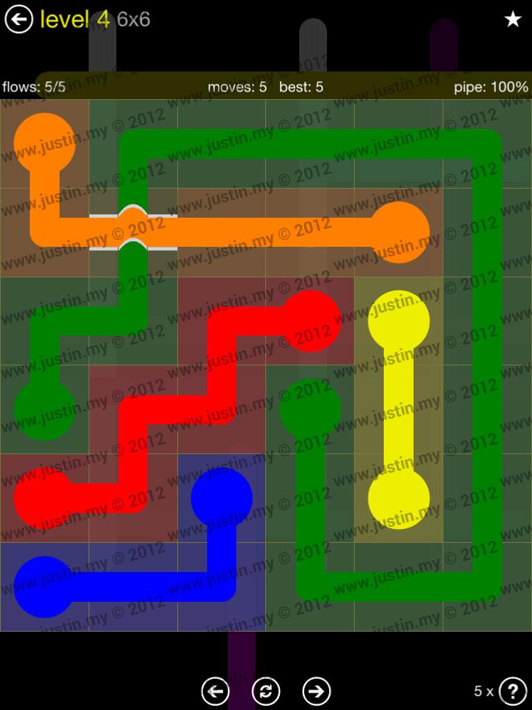 Flow Bridges 6x6 Level 4