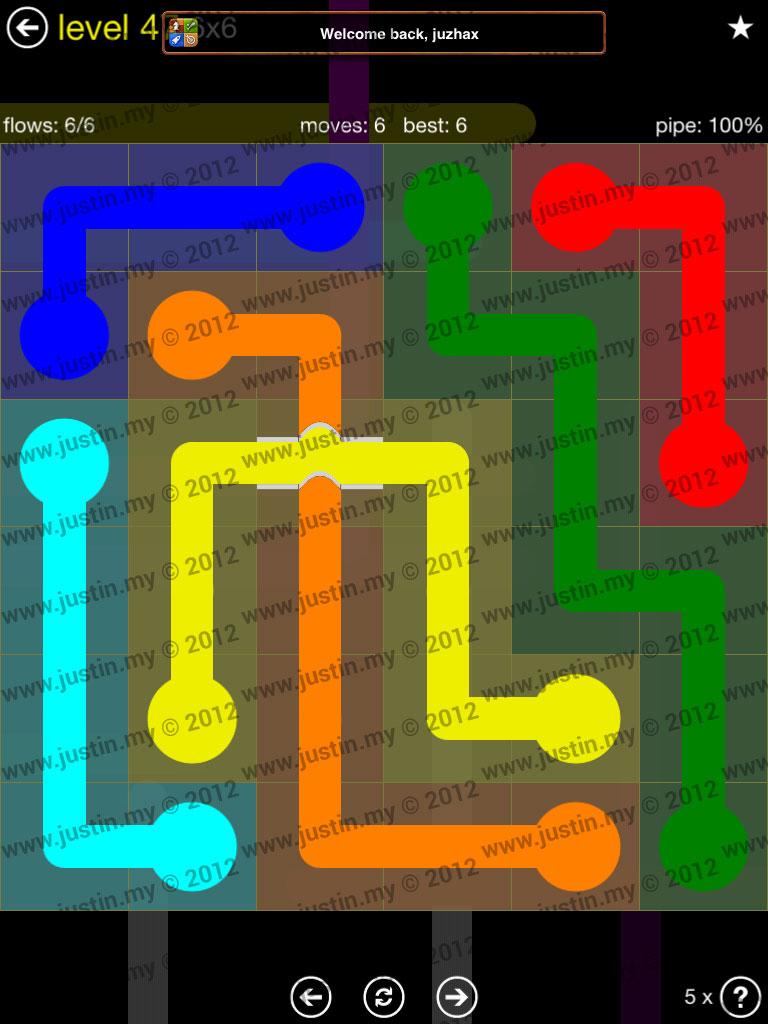 Flow Bridges 6x6 Level 47