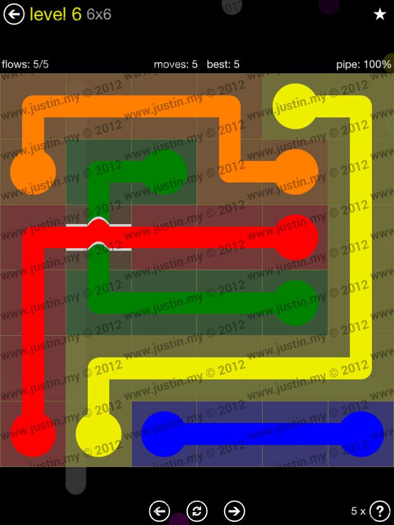 Flow Bridges 6x6 Level 6