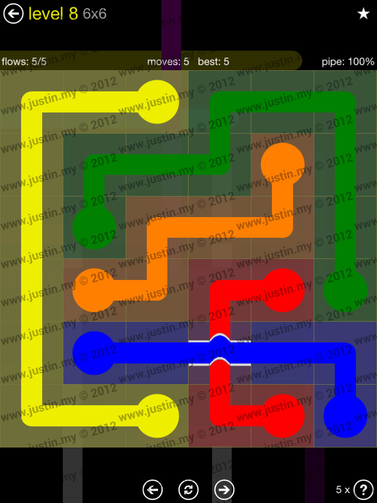 Flow Bridges 6x6 Level 8