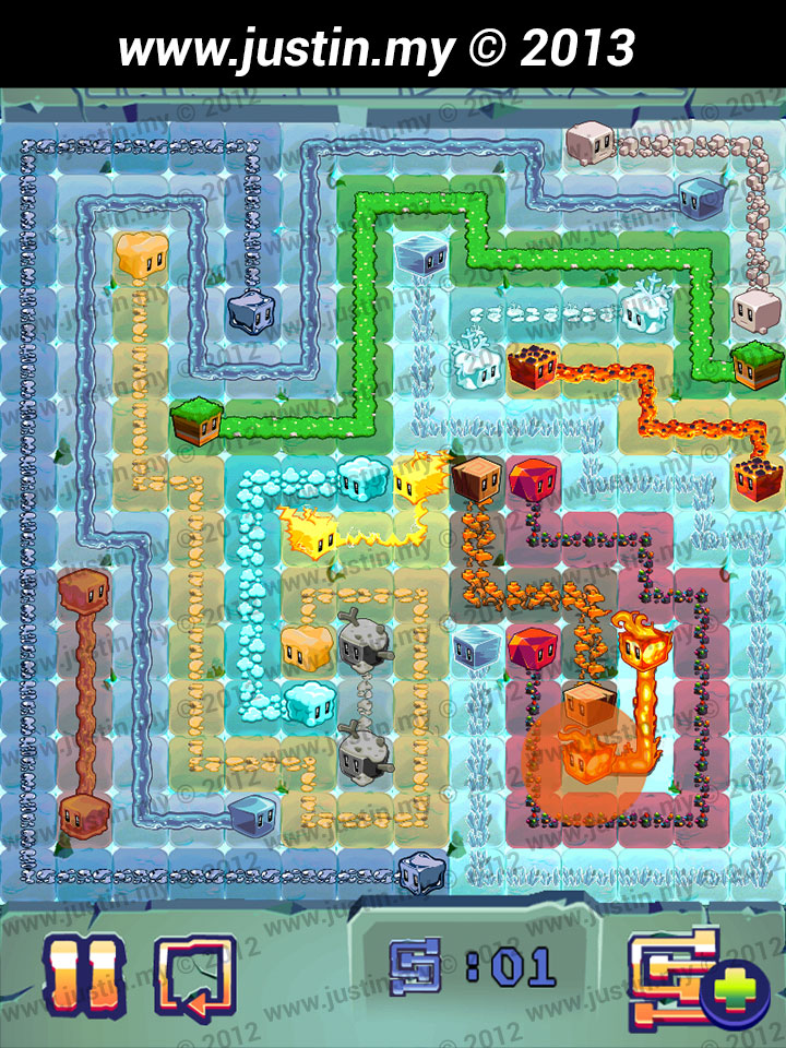 Lost Cubes 14x14 Level 1