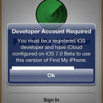 Apple bugged Find My iPhone app by updating it to iOS 7