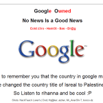 Google Palestine  domain hacked and defaced