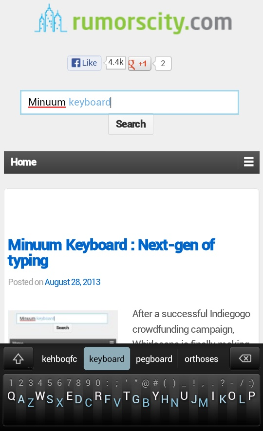 Minuum Keyboard Next gen of typing 01